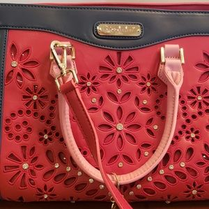 Nicole Lee Red and Blue Satchel